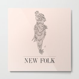 New Folk - Bird Brain Metal Print