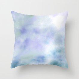 Secret Garden, Abstract Art Pastel Watercolor Throw Pillow