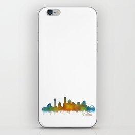 Dallas Texas City Skyline watercolor v02 iPhone Skin