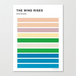 The Colors of the wind rises Canvas Print