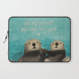 Sea Otters in Love Laptop Sleeve