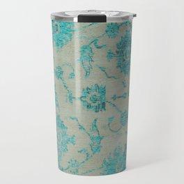 blue antique carpet Travel Mug