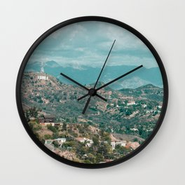 Hollywood Views Wall Clock