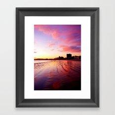 Sherbet Skies Framed Art Print