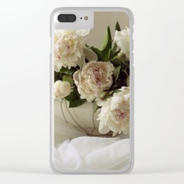 Garden peonies for Justine - wedding bouquet photography Clear iPhone Case