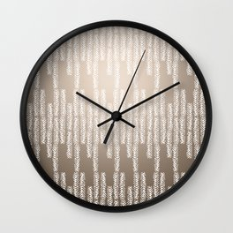 Eye of the Magpie tribal style pattern - champagne Wall Clock
