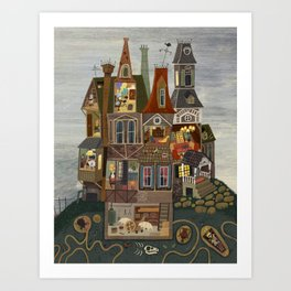 House with many secrets Art Print