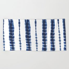 Indigo Blue Tie Dye Delight Beach Towel