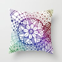zen Throw Pillows featuring Zen by Alohalani