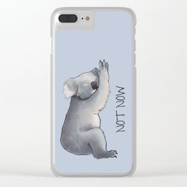 Koala Sketch - Not Now - Lazy animal Clear iPhone Case
