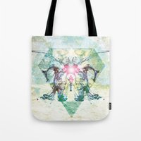 rorschach Tote Bags featuring Rorschach by not a name