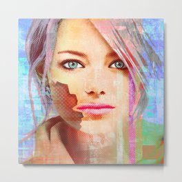 my android lover... bit her face off... can u fix her? Metal Print