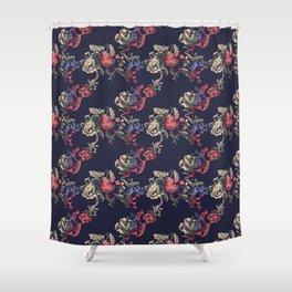 Japanese Brocade print Shower Curtain