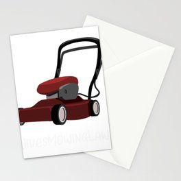 Mowing Lawns Wives Mowing Lawns Stationery Cards