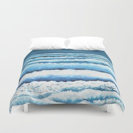 Watercolour waves crashing on the shore Duvet Cover