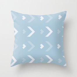 Chevron Blue Pattern Throw Pillow