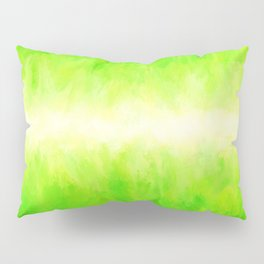 Yellow Green Lime Grass Pillow Sham