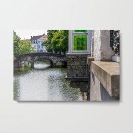 A Bridge in Bruges Metal Print