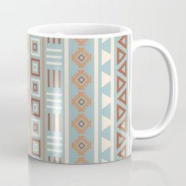 Aztec Influence Pattern Blue Cream Terracottas Coffee Mug