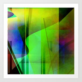 Multicolored abstract 2016 / 006 Art Print