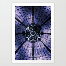 Purple Stained Glass Art Print