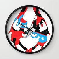 guns Wall Clocks featuring Kong Guns by launa