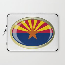Arizona State Flag Oval Button Laptop Sleeve