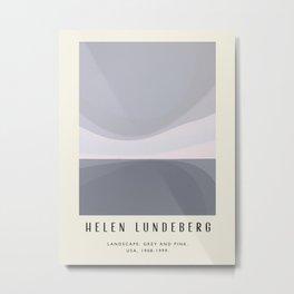 Poster-Helen Lundeberg-Landscape: grey and pink. Metal Print