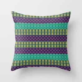 Mardi Gras Colors Throw Pillow
