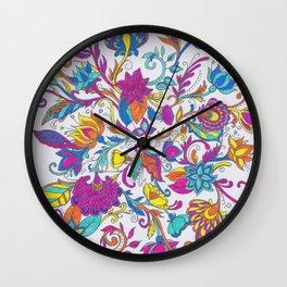 F  L O W E R S Wall Clock