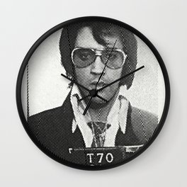 Elvis zigzag mugshot Wall Clock