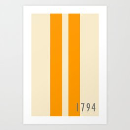 Orange and Stripes - The University of Tennessee  Art Print