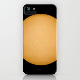 Sun with sunspots real image telescope and Sun filter. Observing the Sun iPhone Case