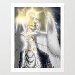Lucifer Morningstar, The White Angel Art Print