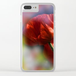 red poppies - first summerdays Clear iPhone Case