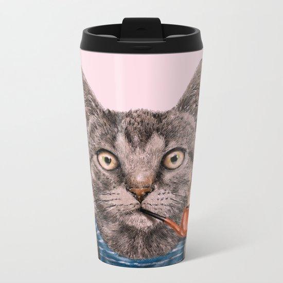 Sailor Cat IX Metal Travel Mug