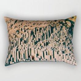 Beneath the puffins Rectangular Pillow