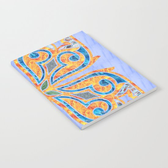 Blue Oriental Tile 02 Notebook