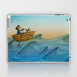 Fox and Girl Go Sailing Laptop & iPad Skin