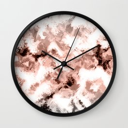 Beige gray abstract pattern Wall Clock