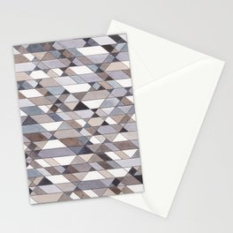 Triangle Pattern no.22 grays Stationery Cards