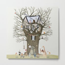 the astrology tree Metal Print