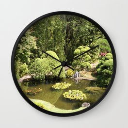 Japanese Tea Garden Pond Wall Clock