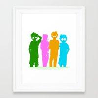 homestuck Framed Art Prints featuring Homestuck Alpha Kids by Crimsonreaper67