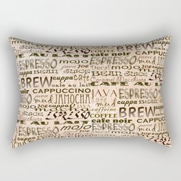 Coffee and Cream Rectangular Pillow