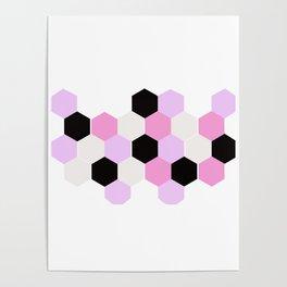 Hexagon honeycomb,geometric shapes decor Poster