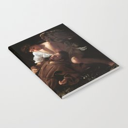 Saint Francis of Assisi in Ecstasy by Caravaggio (1595) Notebook