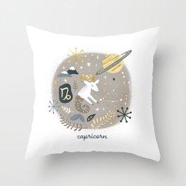 Capricorn Earth Throw Pillow