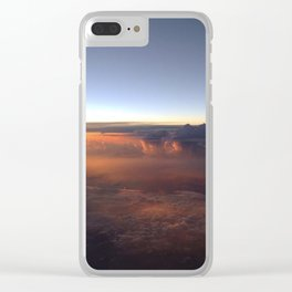Sunsetting in clouds Clear iPhone Case