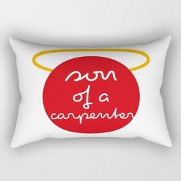 son of a carpenter - Red Dot Works Rectangular Pillow